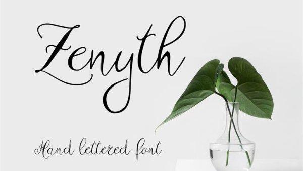 Zenyth Script Font Free