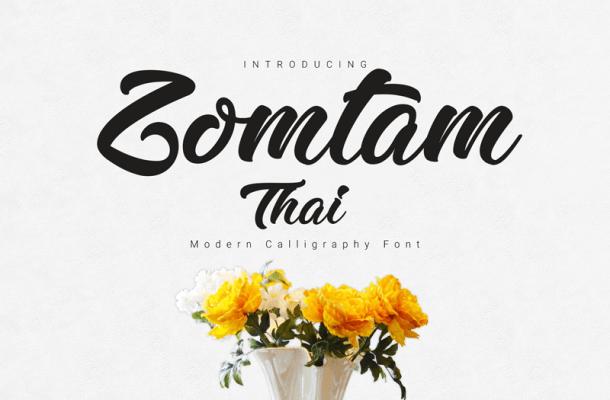 Zomtam Thai Script Font Free