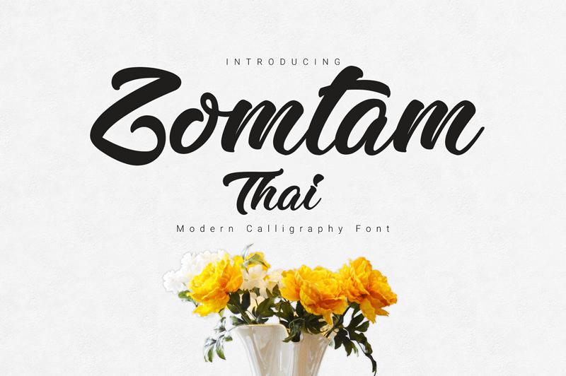 zomtam-thai-font