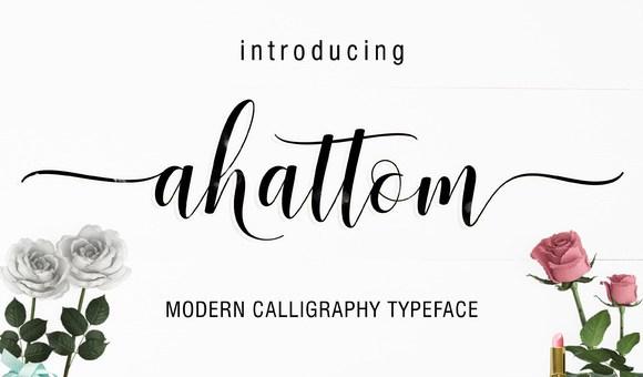 Ahattom Script Font Free