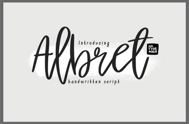 Albret Handwritten Font Free
