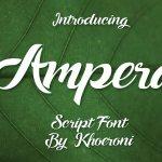 Ampera Script Font Free