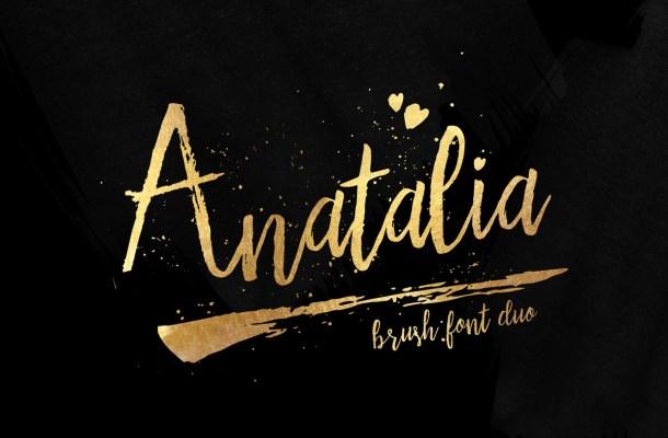 Anatalia Brush Duo Font Free