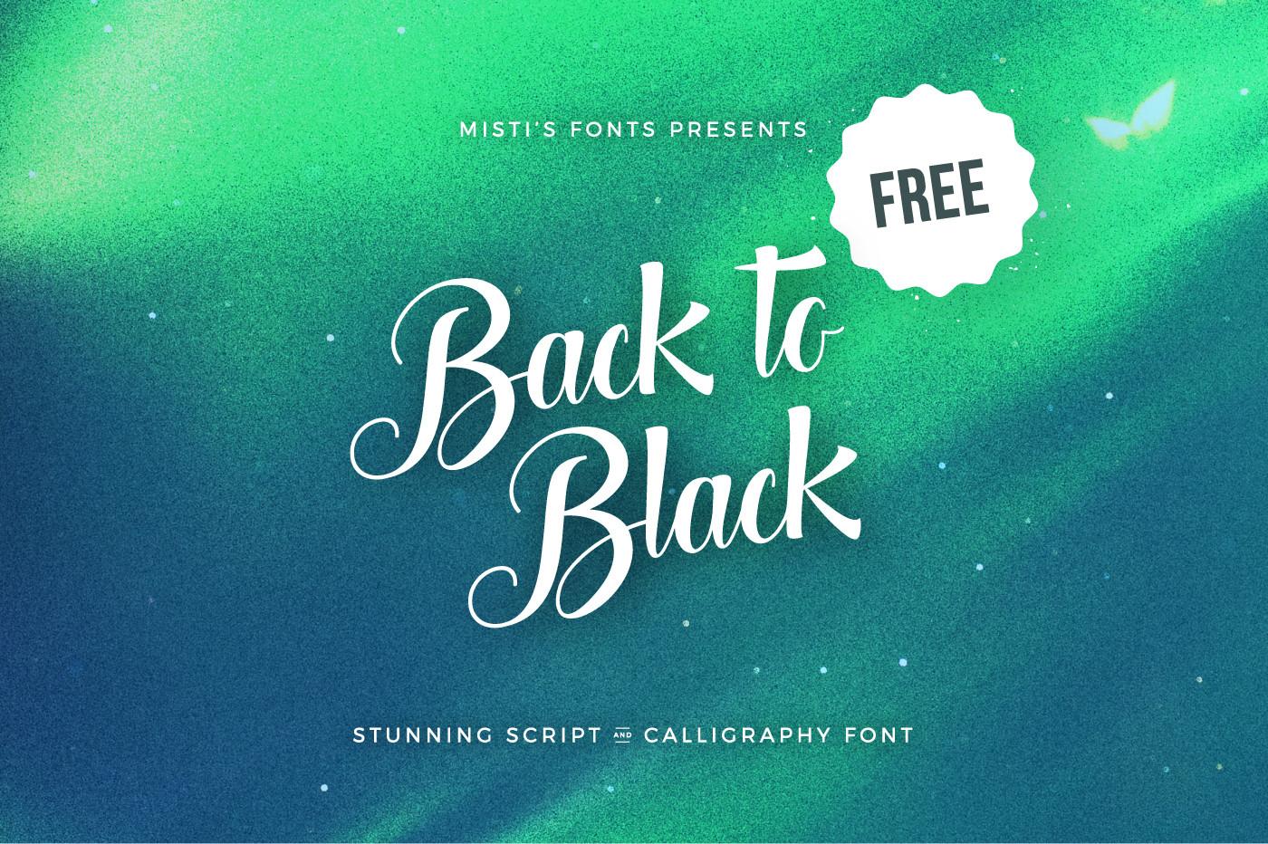 back-to-black-font