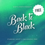 Back to Black Font Free