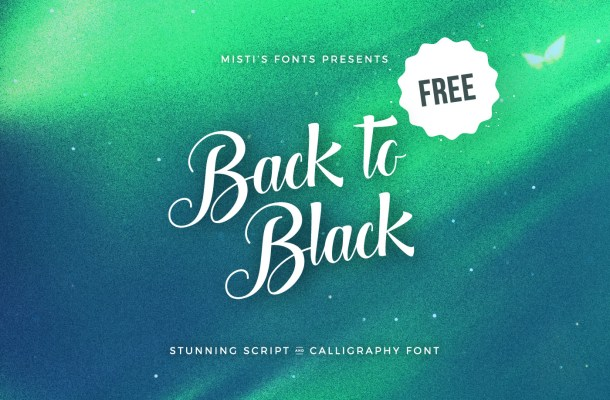 Back to Black Font Free