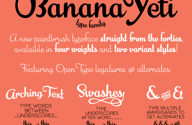 Banana Yeti Script Font Free