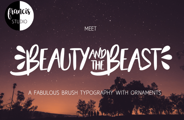 Beauty and the Beast Font Free