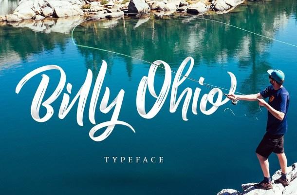 Billy Ohio Brush Font Free