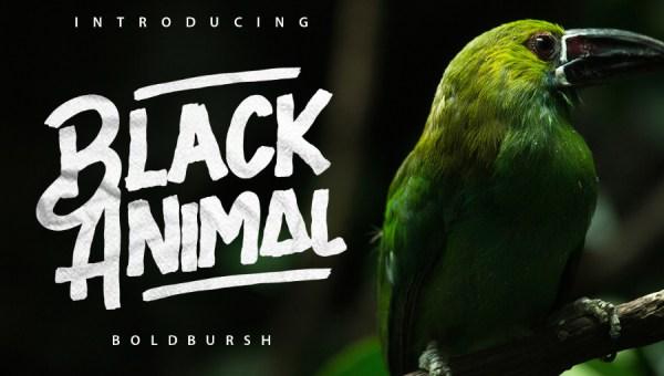 Black Animal Font Free