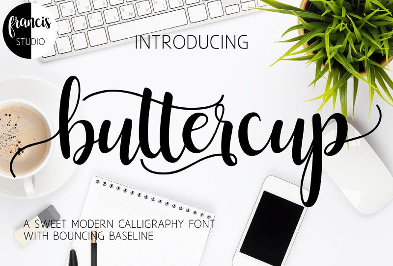 buttercup-script-font