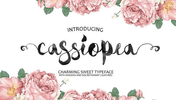 Cassiopea Brush Font Free