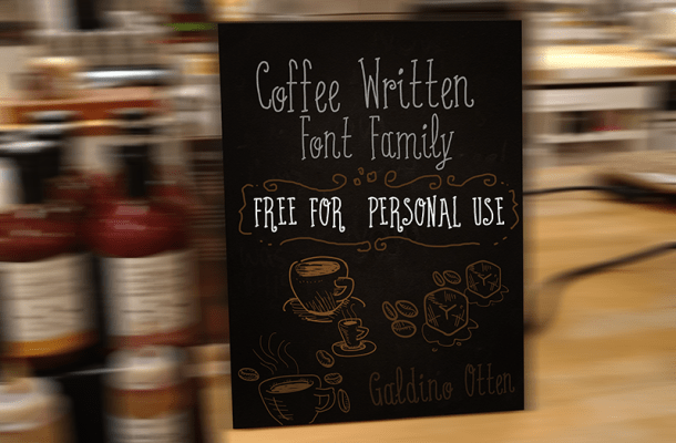 Coffee Written Typeface Free