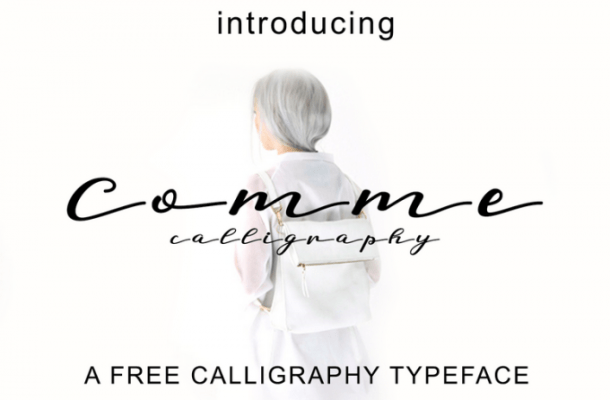 Comme Calligraphy Font Free