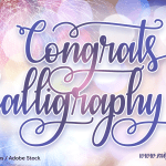 Congrats Calligraphy Font Free