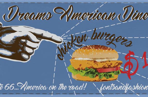 Dreams American Diner Font Free