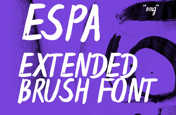 Espa Extended Brush Font Free
