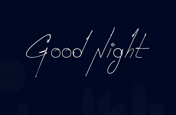 Good Night Font Free