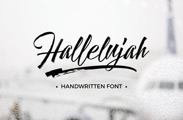 Hallelujah Script Font Free