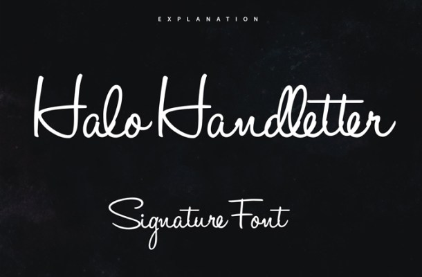Halo Handletter Font Free