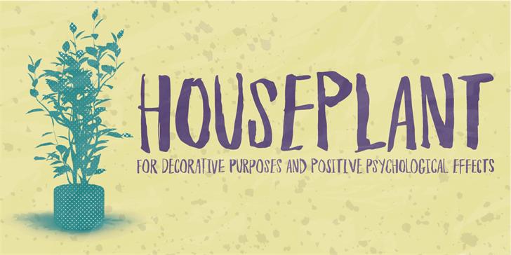 houseplant-font