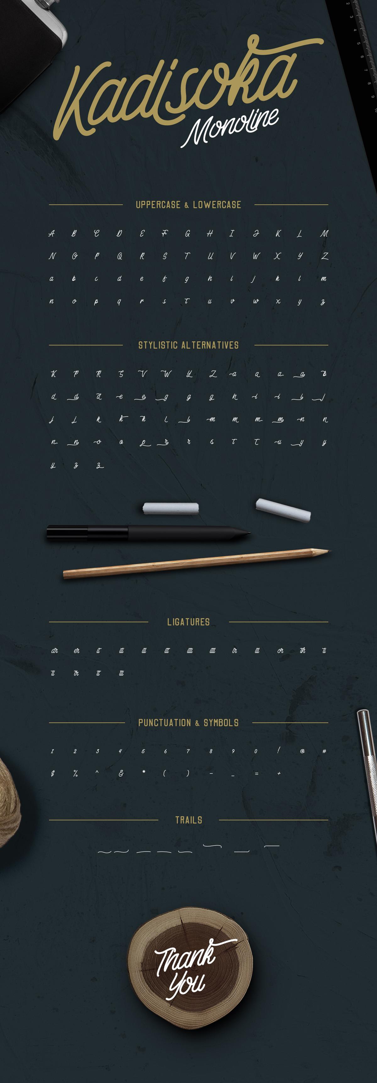 kadisoka-monoline-font