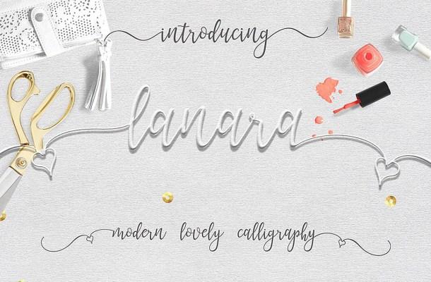 Lanara Script Font Free