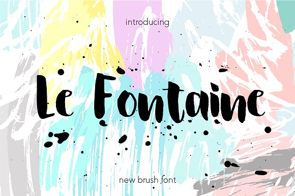 Le Fontaine Brush Font Free