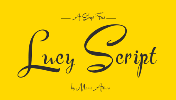 Lucy Script Font Free