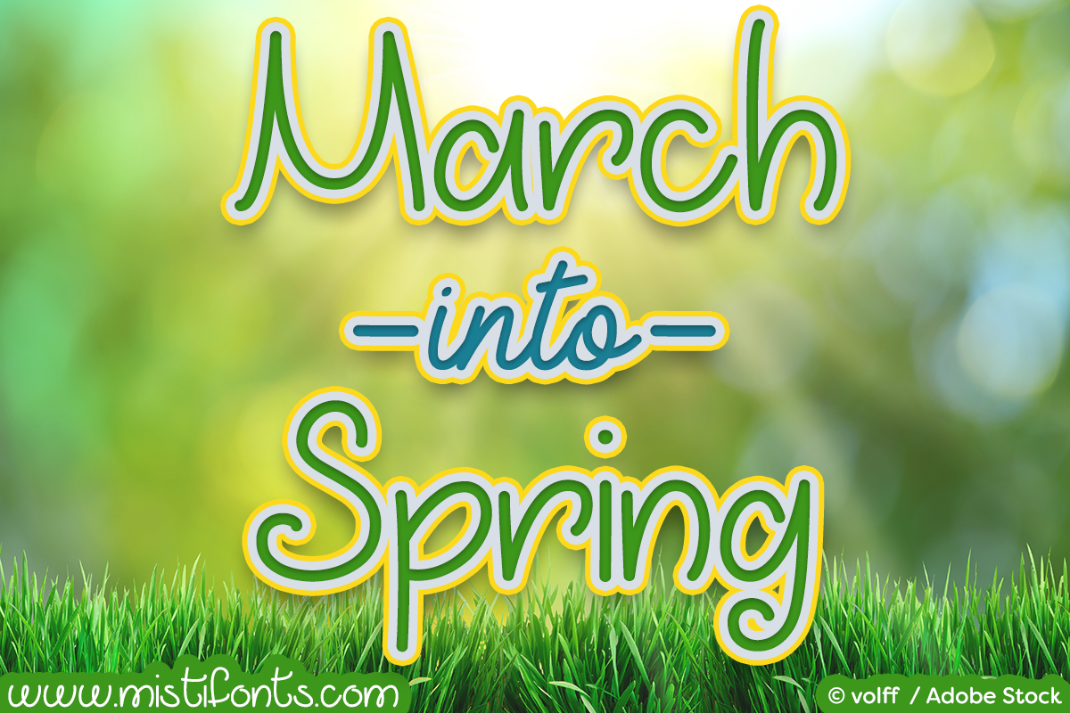 march-into-spring-font