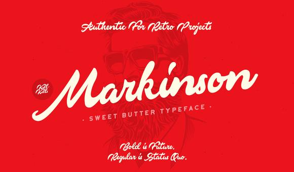 Markinson Script Font Free