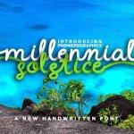 Millennial Solstice Script Font Free