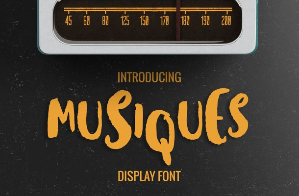 Musiques Brush Font Free