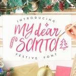 My Dear Santa Script Font Free
