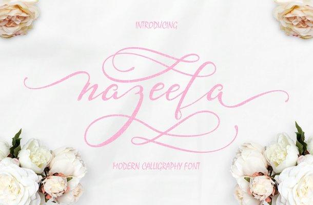 Nazeefa Script Font Free