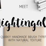 Nightingale Brush Font Free