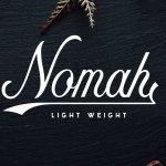 Nomah Light Script Font Free