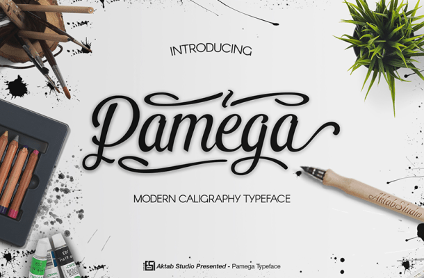 Pamega Script Font Free
