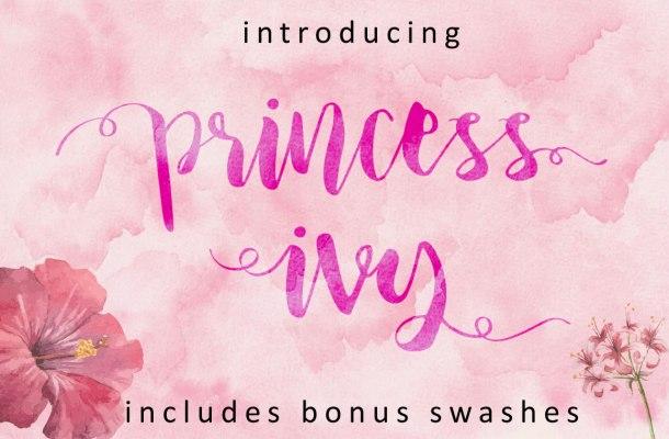 Princess Ivy Script Font Free