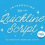Quickline Script Font Free