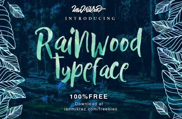 Rainwood Typeface Free