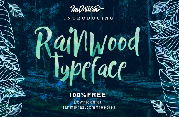 Rainwood Typeface Free
