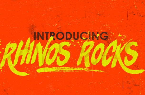Rhinos Focks Brush Font Free