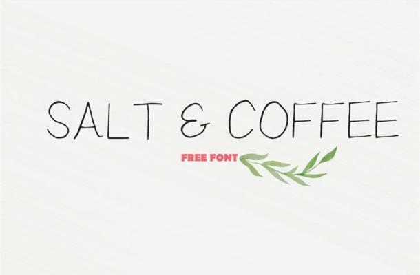 Salt Coffee Font Free