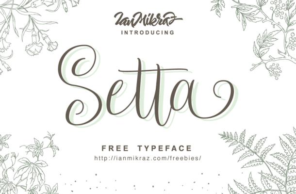 Setta Script Font Free