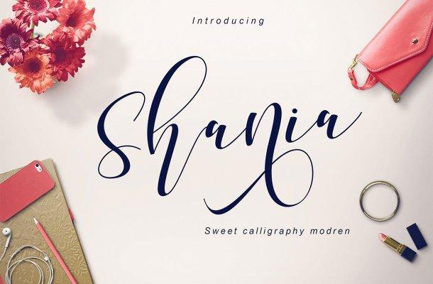 Shania Script Font Free
