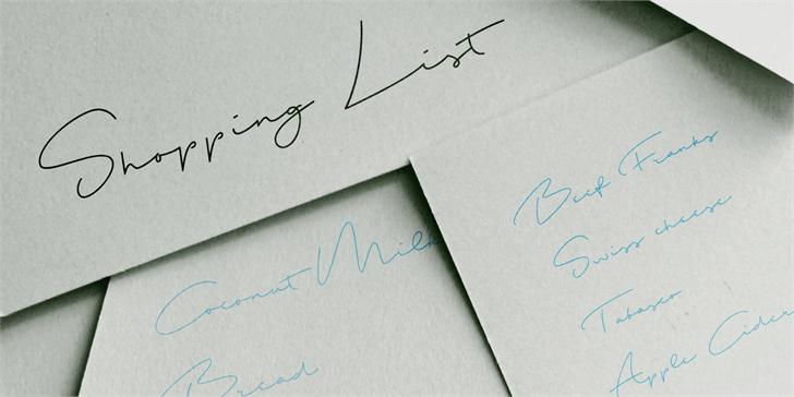 shopping-list-font