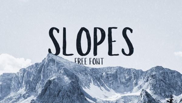 Slopes Brush Font Free