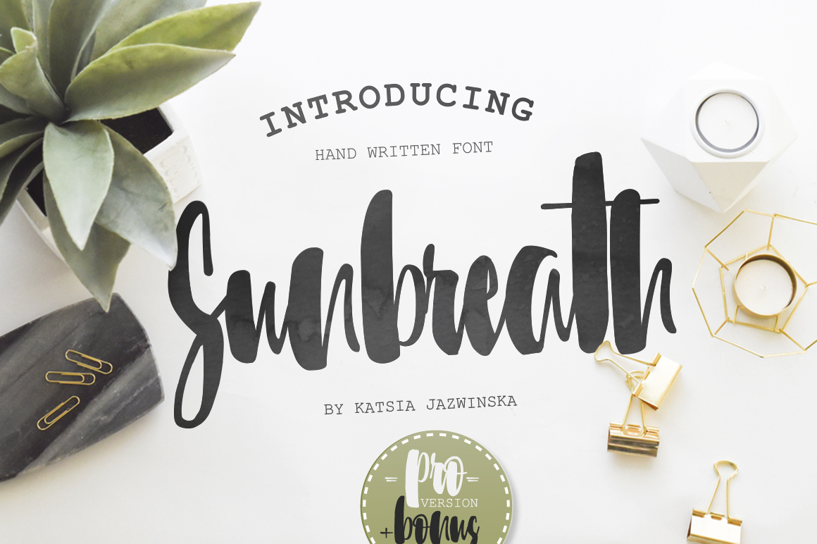 sunbreath-font