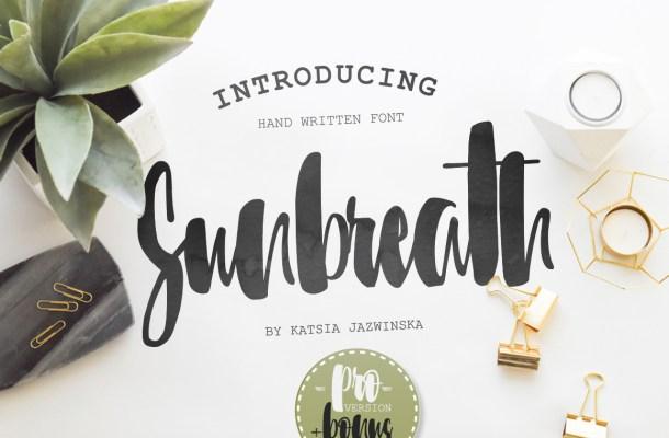 Sunbreath Font Free